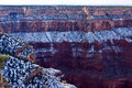 Snow on the grand canyon winter dusts Stock Photo