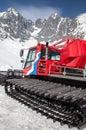 Snow groomer at resort Tatranska Lomnica, Slovakia Royalty Free Stock Photo
