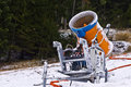 Snow gun on the slope Stock Images
