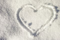 Snow heart Royalty Free Stock Photo
