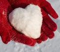 Snow heart Royalty Free Stock Photo