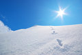 Snow hills composition of nature Stock Images