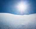 Snow hills composition of nature Royalty Free Stock Images