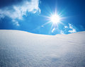Snow hills composition of nature Stock Photo