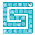 Snow labyrinth. Vector illustration of a board game