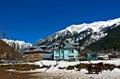 Snow laden peaks at kashmir beautiful shot of india Royalty Free Stock Photos
