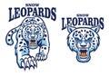 Snow leopard mascot Royalty Free Stock Photo
