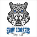 Snow Leopards - vector sport emblem Royalty Free Stock Photo