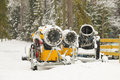 Snow making machine Royalty Free Stock Photo