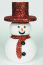 Snow man with red hat a Stock Image