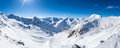 Snow mountain panorama Royalty Free Stock Photo