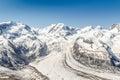 Snow Mountain Range Landscape at Alps Region, Switzerland Royalty Free Stock Photo