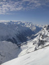 Snow mountain from top of titlis Stock Photos
