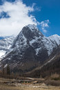 Snow mountain a of west sichuan province china Royalty Free Stock Photography