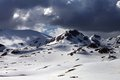 Snow mountains before storm turkey central taurus aladaglar anti taurus view from plateau edigel yedi goller Stock Images