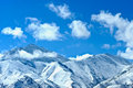 Snow mountains in tibet mountain peak covered with white Stock Image