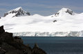 Snow mountans in Antarctica Stock Image