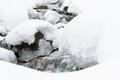 Snow mountine river stock photo in kazakhstan forest shoot made on long exposure mode Stock Image