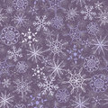 Snow pattern seamless flakes two layers Stock Images