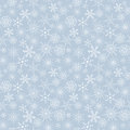 Snow pattern seamless light blue flakes Stock Photos