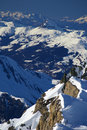 Snow and peaks in austrian alps Royalty Free Stock Photo
