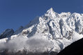 Snow peaks of manaslu in nepal Royalty Free Stock Photo