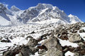 Snow peaks on mount manaslu in nepal Royalty Free Stock Image