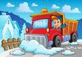 Snow plough theme image eps vector illustration Royalty Free Stock Photo