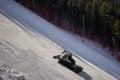 Snow plow working on a mountain pirin ski resort bansko bulgaria Stock Images