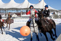 Snow polo cup Royalty Free Stock Photography