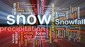 Snow precipitation background concept glowing Stock Images
