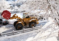 Snow removal vehicle Stock Photography
