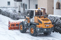 Snow removal vehicle Stock Photos