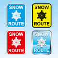 Snow route sign Stock Image