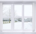 Snow Scene Window Royalty Free Stock Photo