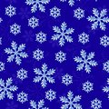 Snow seamless pattern with snowflakes on dark blue background Stock Photos