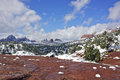 Snow in Sedona Royalty Free Stock Images