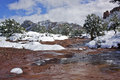Snow in Sedona Royalty Free Stock Photography