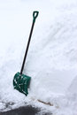 Snow Shovel Royalty Free Stock Photography