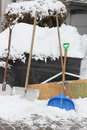 Snow shovels Royalty Free Stock Photo