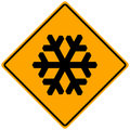 Snow Sign Royalty Free Stock Photography