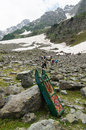 Snow sled is very popular activity at Sonamarg in Kashmir.