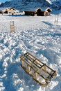 Snow and sledges