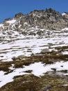 Snow in the Snowy mountains Stock Photos