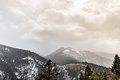 Snow Storm on Cheyenne Mountain Colorado Springs Royalty Free Stock Photo