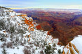 Snow Storm in Grand Canyon, AZ Stock Photos