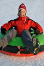 Snow tubing Royalty Free Stock Photo