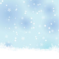 Snow winter background Stock Photography