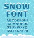 Snow winter font