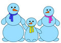 Snowballs family Stock Images